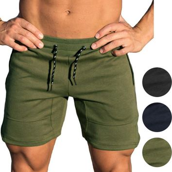 Green Blue Black Men Training Shorts Gym Athletic Workout Sport Exercise Fitness Sweat Shorts
