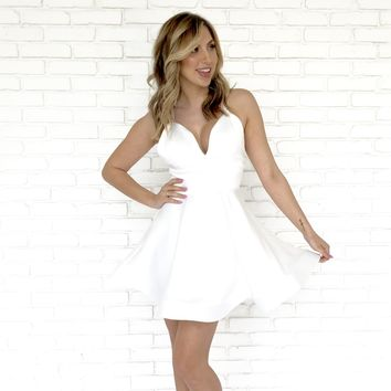 Picture Perfect Skater Dress In Ivory