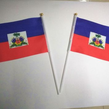 Small Haiti flags 14*21 cm