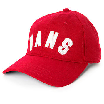 Vans Dugout Red Dahlia Unstructured Baseball Hat