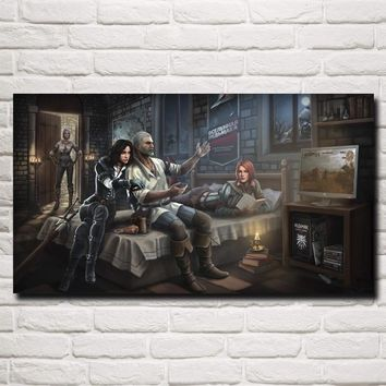 FOOCAME The Witcher 3: Wild Hunt Geralt of Rivia Game Art Silk Poster Prints Home Wall Decor Painting 11x20 16x29 20x36 Inches