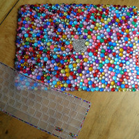 Custom Macbook Rhinestone with Silicone Rhinestone Keyboard Cover Bundle