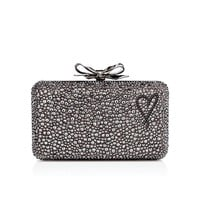FIOCCO BOX WITH LOVE SUEDE BURMA/STRASS, JET HEMATITE, Strass, Women Bags, Louboutin.