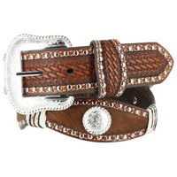 Nocona Women's Scalloped and Hair on Hide Western Belt