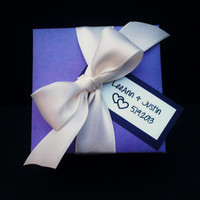 Personalized Wedding Favor Box Set of 25, Shower Favor Box, Gift Box