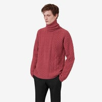Zipped turtleneck sweater