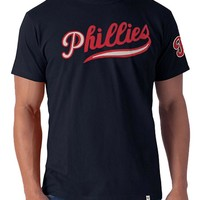 '47 Brand Philadelphia Phillies Mens Short Sleeve Fashion T-Shirt - Navy Blue