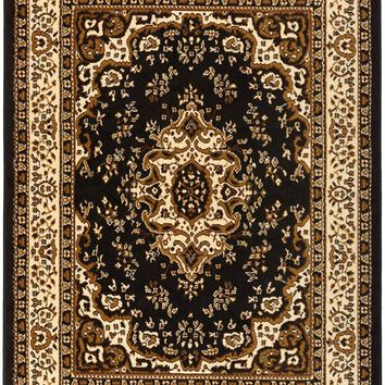 5089 Black Brown Isfahan Oriental Area Rugs
