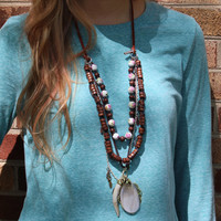 Elephant Necklace // Boho // Chic // Multi-strand // Bulky Necklace // Handmade // Personal touch // Gypsy // Multy-Strand