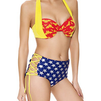 DC Comics Wonder Woman Retro Swim Top