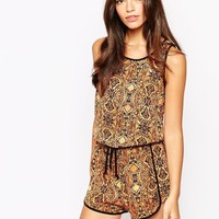New Look Aztec Printed Playsuit