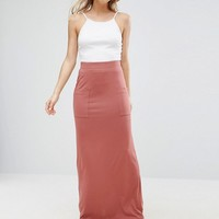 ASOS Jersey Maxi Skirt with Pockets at asos.com
