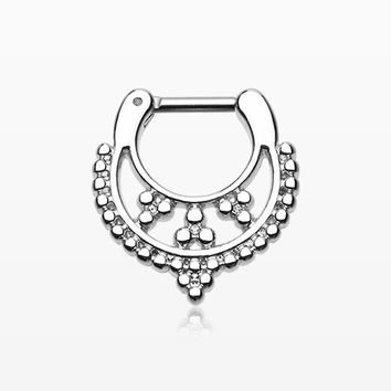 Classic Royal Filigree Septum Clicker