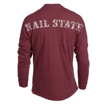 Official NCAA Mississippi State University Bulldogs HAIL STATE BULLY Women's Long Sleeve Spirit Wear Jersey T-Shirt