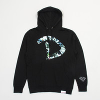 D Simple Pullover Hood in Black