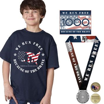 FIP Run for the Heroes Virtual 5K/10K Youth Tee Pack