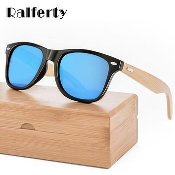 Retro Wood Sunglasses Men Bamboo Sunglass Women Brand Design Sport Goggles Gold Mirror Sun Glasses Shades