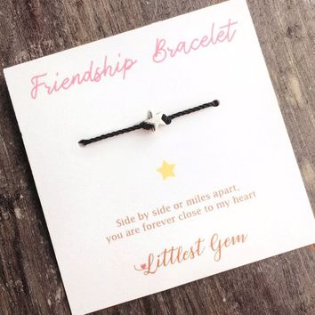 Sister Bracelet, Wish Bracelet, Best Friend Gift, Long Distance Friendship, Rose Gold Bracelet, Sentimental Gifts