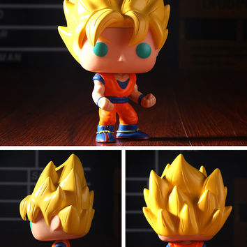 Td Zw 10Cm Funko Pop Mini Dragon Ball Z Action Figures Son Goku Piccolo Frieza Vegeta Vinyl Pvc Collectible Model Toy Gift