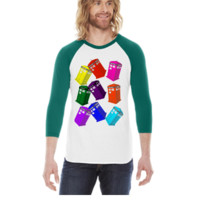 doctor who design -  3/4 Sleeve Raglan Shirt