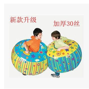 2016 Hot Sale New Inflatable Kids Air Grass Bumper Bead Zorb Ball Game Toys For Children Outdoor Sport Toy Free Shipping