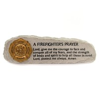 Home & Garden A FIREFIGHTER'S PRAYER Polyresin Message Bar Courage Valor 63582