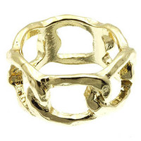 Gold Chain Link Ring