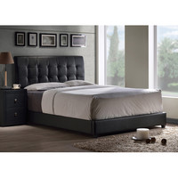 Hillsdale Furniture 1281BFR Lusso Full Bed Set with Black Faux Leather Fabric