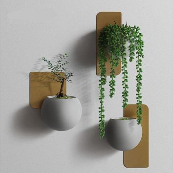 Japanese Wall Planters - Flower Pot Candle Holder