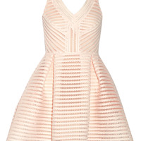 Maje - Rayure mesh-striped jersey mini dress