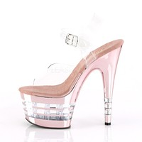 "Adore 708CHLN Rose Gold Line Platform 7"" High Heel Shoes"