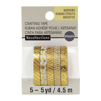 Gold Foil Narrow Washi Tapes By Recollections™