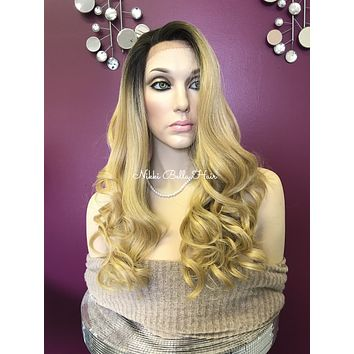 Blond ombre lace front wig | MARISSA