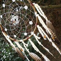 Large Acorn Flower Dreamcatcher for Decoration or Catching Dreams