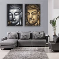 Canvas Painting Oil Print Buddha Face