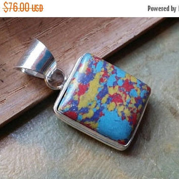 SUMMER SALE 75% Off Picasso Jasper  Gemstones  . 925 Sterling Silver