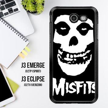 Horror Punk Rock Band Misfits Skull Z0506 Samsung Galaxy J3 Emerge, J3 Eclipse , Amp Prime 2, Express Prime 2 2017 SM J327 Case