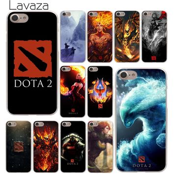 Lavaza dota 2 logo Hard Phone Cover Case for Apple iPhone 10 X 8 7 6 6s Plus 5 5S SE 5C 4 4S Coque Shell