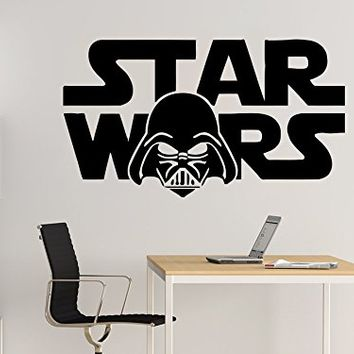 Wall Decal Star Wars Logo Darth Vader Vinyl Sticker Decals Nursery Baby Room Home Decor Bedroom Art Design Interior NS854