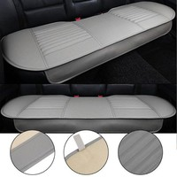 DCCKSV3 General Car Seat Cushions Mat Charcoal Auto Double Back Seat Pad Breathable Anti-slip Synthetic Leather Car Rear Seat Cover