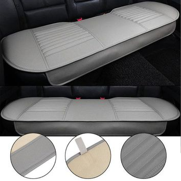 VONE05K General Car Seat Cushions Mat Charcoal Auto Double Back Seat Pad Breathable Anti-slip Synthetic Leather Car Rear Seat Cover