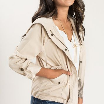Sandra Beige Cropped Jacket