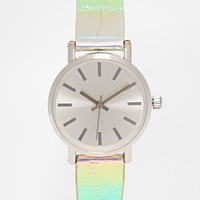 ASOS 90s Holographic Strap Watch at asos.com