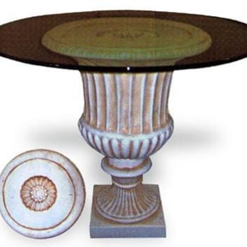 Urn Fluted Dining Table Base 29H - 4676