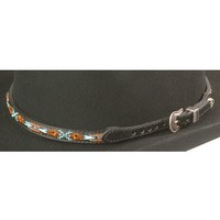 Aztec Embroidered Leather Hat Band - Sheplers