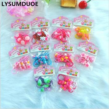 LYSUMDUOE Bow Flower Hair Accessories Girl Headband Kids Cute Hair Clip Elastic hair Bands Headbands Kawaii Hairpin For Girls