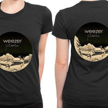 MDIG1GW Weezer Pinkerton Cover Rounded Polygon 2 Sided Womens T Shirt