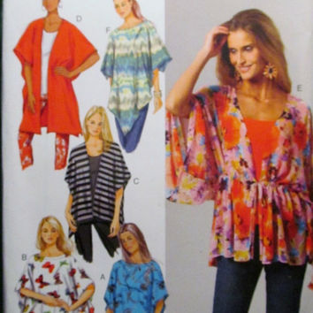 SALE Uncut Butterick Sewing Pattern, 5790! XSM-Sml-Med-Lrg-Xlg/Women's/Misses/Swimsuit Covers/Ponchos/Cover-ups/Wraps/Loose Fitting Tops