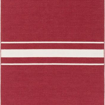 Colton Stripes Area Rug Red