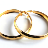 """Metallic Dreams"" Gold Hoop Earrings"